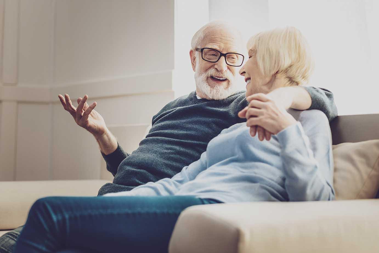 Senioren Pärchen Freude am Leben